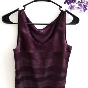Ann Taylor Loft Sleeveless Blouse Purple